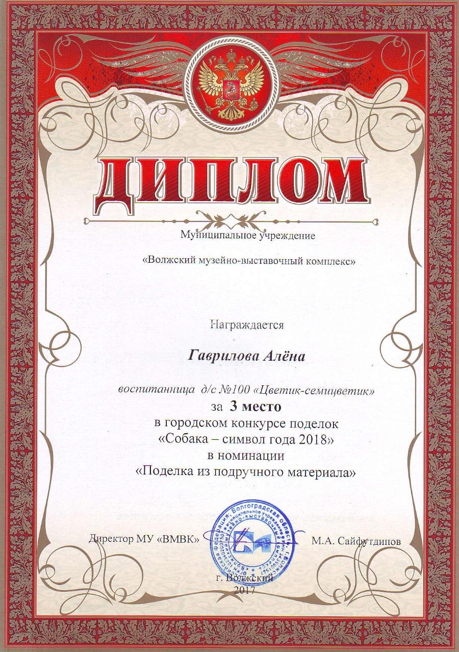 Гаврилова Алена 3 место